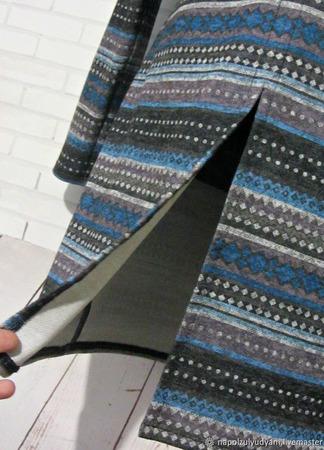 Теплая туника с разрезом ручной работы на заказ