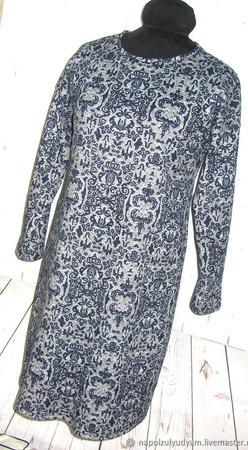 """Теплое платье """"Вензель"""" ручной работы на заказ"""