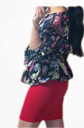 Блуза с баской ручной работы на заказ
