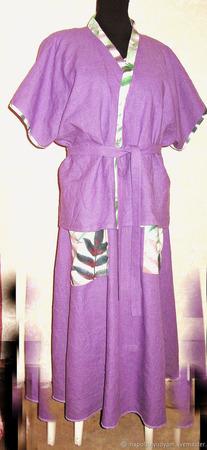 Льняное платье ручной работы на заказ