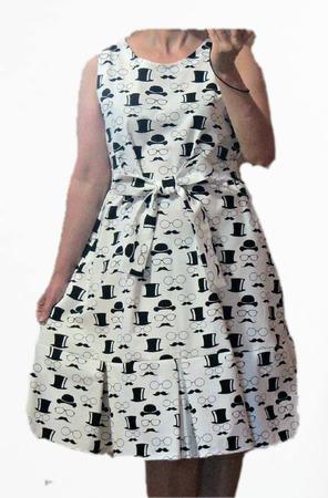 Платье без рукавов ручной работы на заказ