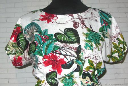 Женское летнее платье из 100% хлопка ручной работы на заказ
