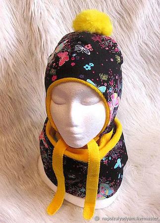 Комплект детский - шапка и снуд ручной работы на заказ