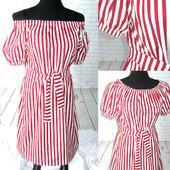 Платье в красную полоску