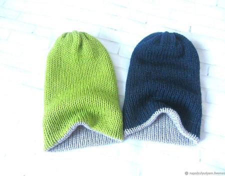 Двойная шапка-чулок ручной работы на заказ