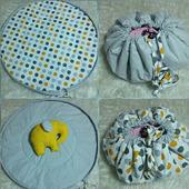 Двусторонний коврик - мешок для игр и игрушек