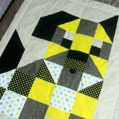 Детское лоскутное стеганое одеяло