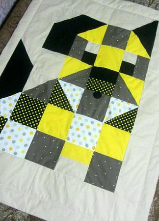Детское лоскутное стеганое одеяло ручной работы на заказ