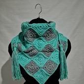 Вязаный бактус шарф шейный платок