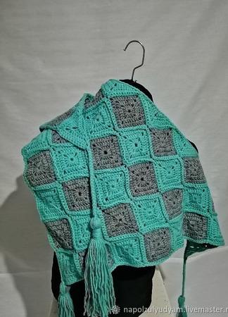 Вязаный бактус шарф шейный платок ручной работы на заказ