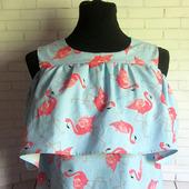 """Блуза из хлопка """"Фламинго"""""""