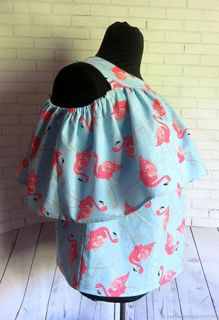ФЛАМИНГО блуза из хлопка ручной работы на заказ
