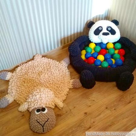 "Сухой бассейн ""Панда"" ручной работы на заказ"