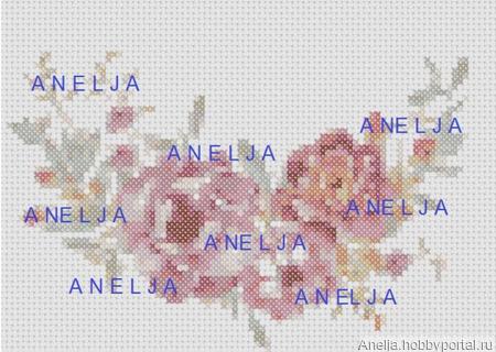 Схемы вышивки цветов ручной работы на заказ