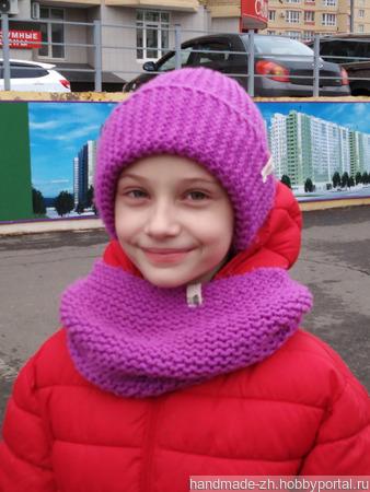 Комплект - шапка и шарф-хомут ручной работы на заказ