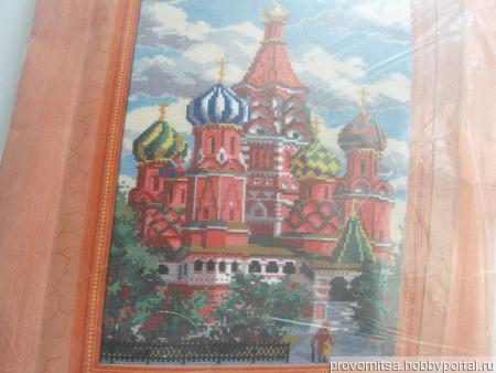 """Набор для вышивки """"Собор Василия Блаженного"""" ручной работы на заказ"""