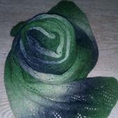 Вязаный шарф секционной окраски