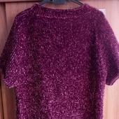 Пуловер-футболка из велюра