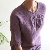 Мастер-класс: Пуловер с нестандартной линией реглана