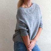 Мастер-класс: пуловер с круглой кокеткой