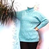 фото: вязаный пуловер