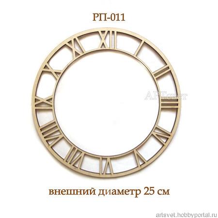 011 Циферблат для часов. Заготовки для росписи и декупажа ручной работы на заказ