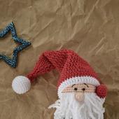 Вязаная игрушка рождественский гномик