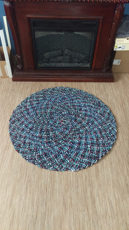 Коврик плетеный ручной работы на заказ