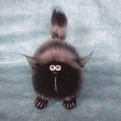Кот Пушистый Растрепа кот вязаный из мохера