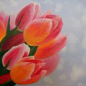 "Картина ""Тюльпаны"" маслом"