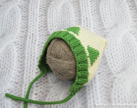 Вязаный теплый комплект из 100% шерсти мериноса для новорожденного ручной работы на заказ