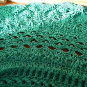 """Вязаный ковёр из шнура """"Чудо цвета морской волны"""""""