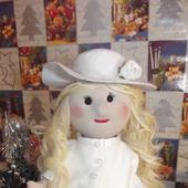 Кукла текстильная в белом