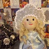 Снегурочка в кокошнике. Кукла текстильная