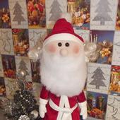 Дед Мороз Кукла текстильная ручной работы.