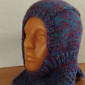 Шапка-шлем теплая зимняя