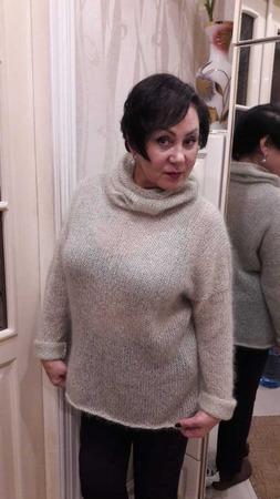 """Мохеровый свитер """"Оливка"""" ручной работы на заказ"""