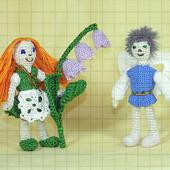 Набор вязаных мягких игрушек «Дюймовочка и король эльфов»