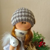 Интерьерная текстильная кукла