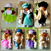 Интерьерная текстильная кукла-малышка