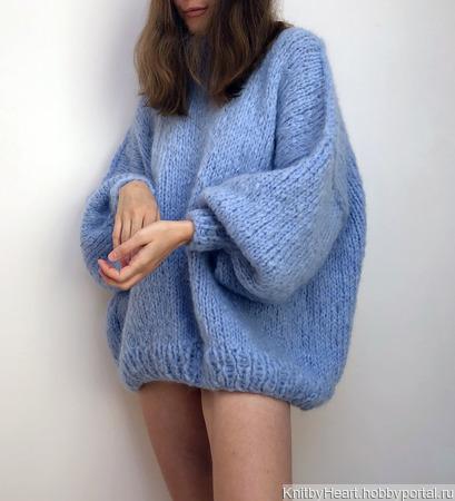 Модный свитер оверсайз из мохера в Ульяновске ручной работы на заказ