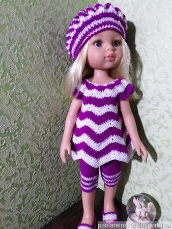 """Комплект одежды для куклы """"Волна"""" ручной работы на заказ"""