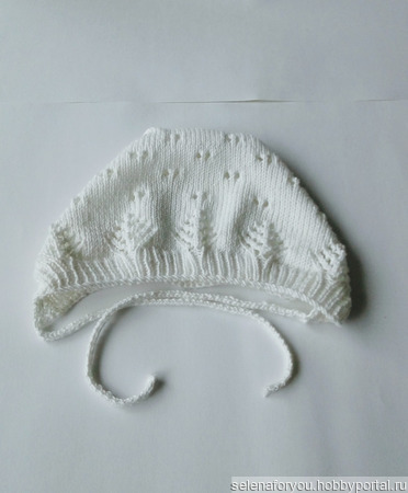 Комплект для новорожденных (шапочка, пинетки) ручной работы на заказ