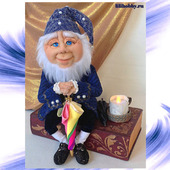 Композиция - кукла Оле Лукойе, шкатулка, ночник