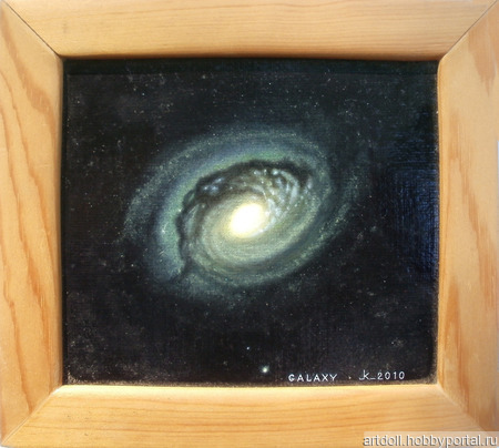 """Картина """"Галактика в созвездии Волосы Вероники"""" ручной работы на заказ"""