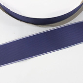 Репсовая лента однотонная с металлической кромкой