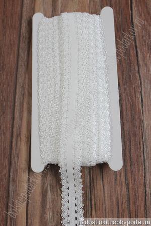 Тесьма-резинка с кружевом ручной работы на заказ