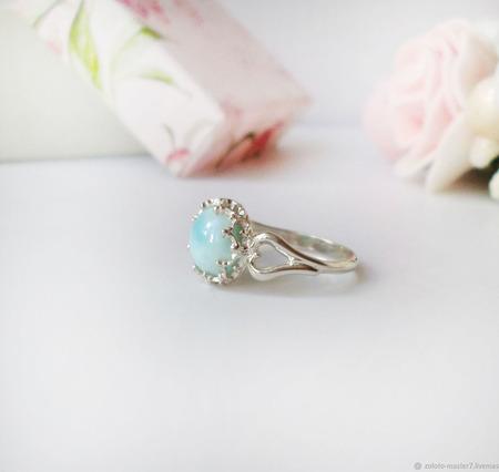 Кольцо с ларимаром ручной работы на заказ