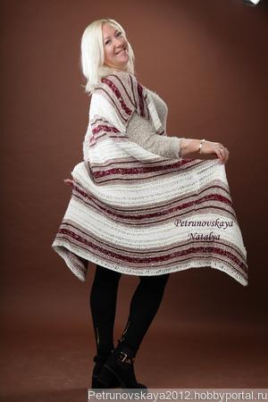 "Кардиган  ""Striped-Blend"" в стиле Cucinelli ручной работы на заказ"