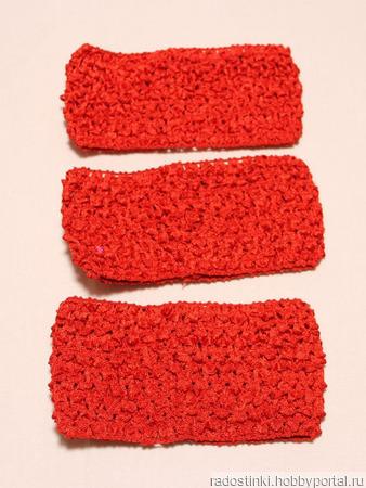 Повязки-основа красного цвета ручной работы на заказ